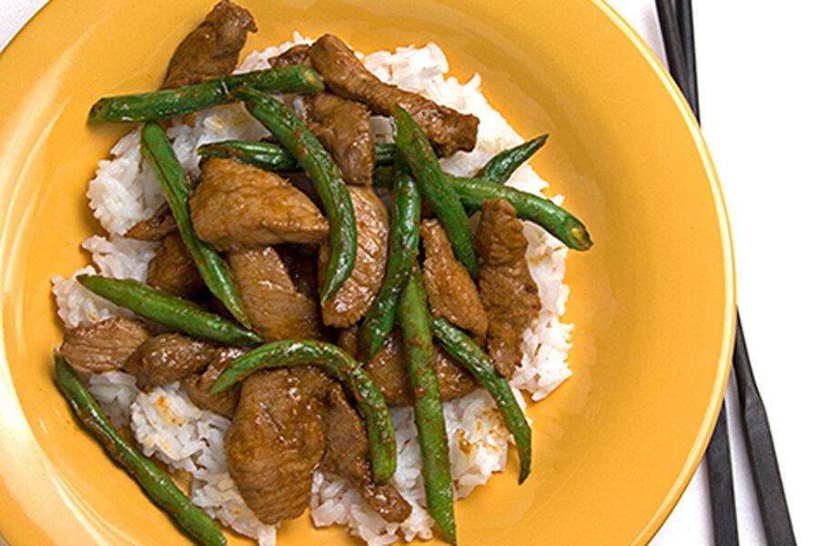 Pork and green bean stir fry - CSMonitor com