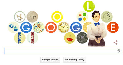 Google doodle honors mathematician Emmy Noether (+video)