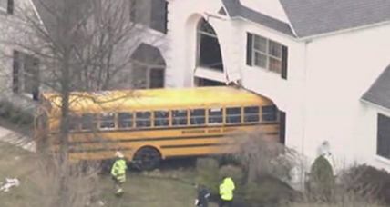 School bus slams into Philly-area home, no injuries reported