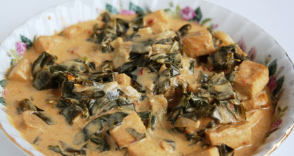Meatless Monday: Collard greens and tofu in coconut sauce