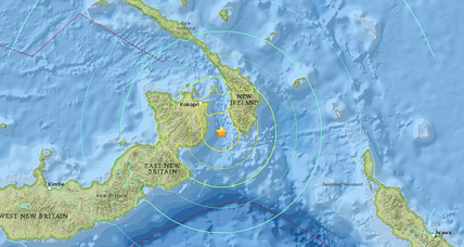 Papua New Guinea earthquake causes 1-inch tsunami. No injuries reported.