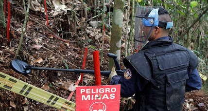 Colombia: After 50 years of war, cleaning up landmines key to peace