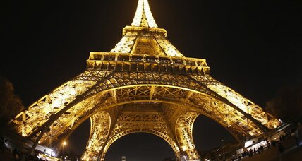 When did the Eiffel Tower open, and why was it 'a truly tragic street lamp'?