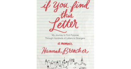 """If You Find This Letter"" tells of the woman who writes love letters to strangers"