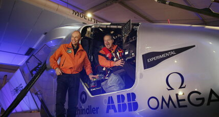 Solar-powered plane embarks on round-the-world flight