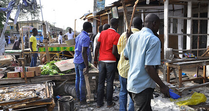 Blast at Nigeria market by teenage girl kills at least 34