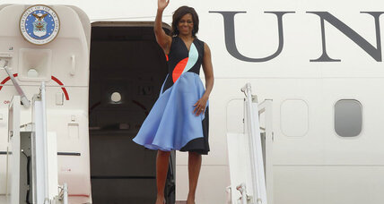 Michelle Obama visits Cambodia, quietly urging better human rights