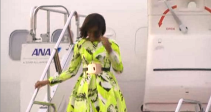 Michelle Obama arrives in Japan to promote girls' education