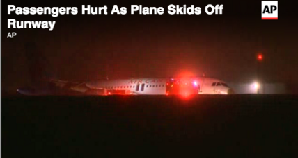 Air Canada plane skids off runway, injuring 23 (+video)