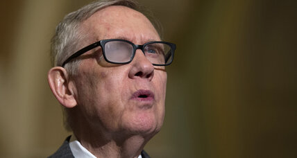 Senate minority leader Harry Reid won't run for re-election