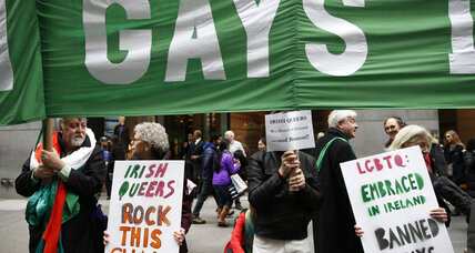 St. Patrick's Day parade: LGBT inclusion hints at shifting Catholic mores (+video)