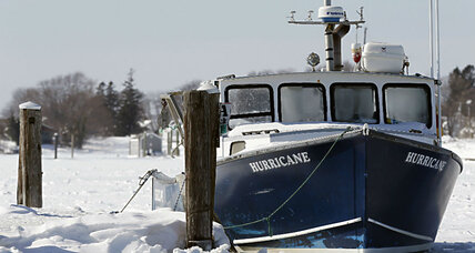 Frozen waterways: Lobstermen and ferries battle ice in Northeast