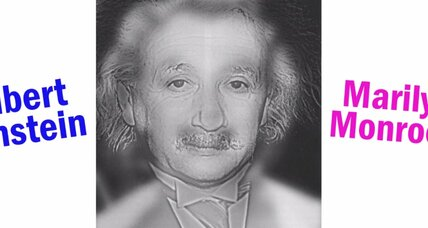 Einstein or Marilyn? How this optical illusion hides two faces in one portrait