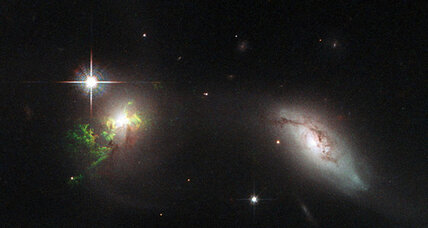 New Hubble images reveal eerie green clouds