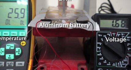 Tired of recharging? New aluminum battery fills up in under a minute.