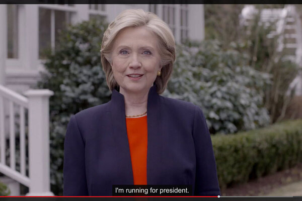 Hillary Rodham Clinton Pledges To Work For Everyday Americans In This Image From A Presidential Campaign Video