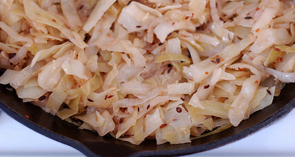 Indian spiced stir-fried cabbage