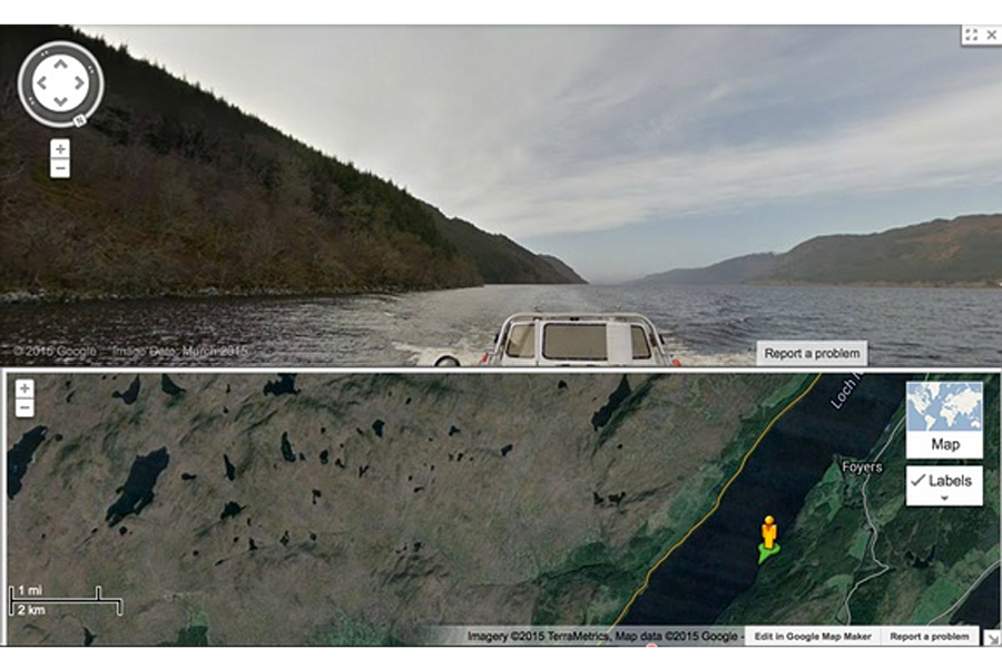 In search of Loch Ness monster, Google maps Scottish lake ...