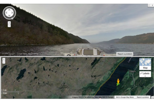 In Search Of Loch Ness Monster, Google Maps Scottish Lake