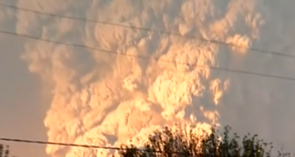 Erupting Calbuco volcano lights up the sky; ash causing concern