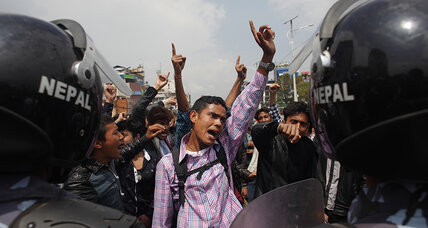 Angry Nepal quake survivors block trucks in protest of slow relief