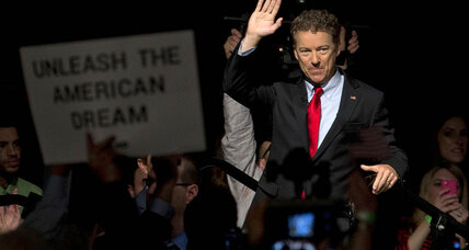 Rand Paul enters 2016 fray: how big money changes GOP calculus (+video)