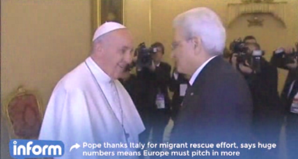 Pope Francis calls on EU to aid Italy with migrant crisis