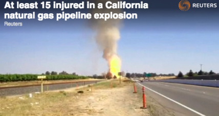 Eleven injured in natural gas pipeline explosion at Calif. gun range