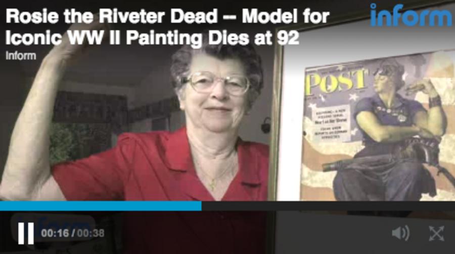 Original Rosie The Riveter Dies Csmonitor Com