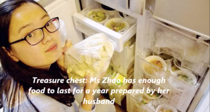 Serviceman stocks year's worth of home-cooked meals for wife