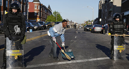 After riots, Baltimore residents take to streets – to help one another