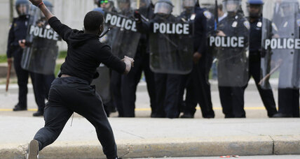 Why did Baltimore riots prompt 'Blue Alert' in Los Angeles?