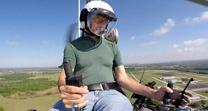 Doug Hughes and his gyrocopter: under the radar to make a political point