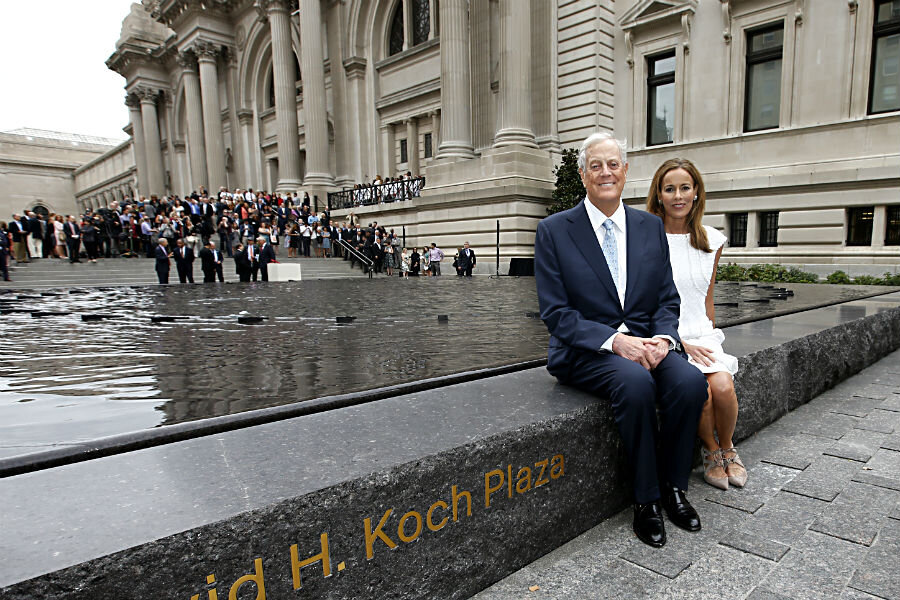 Did the koch brothers just reveal who they will support in for David koch usa