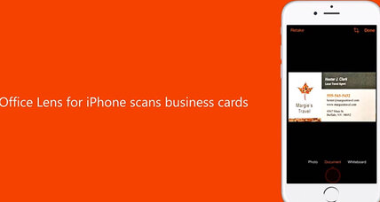 Microsoft releases scanning app Office Lens to rivals iOS, Android (+video)