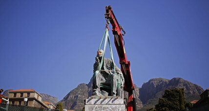 After fall of statue, South African university weighs colonial legacy