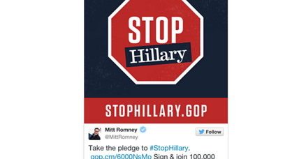 What the 'Stop Hillary' campaign looks like, so far
