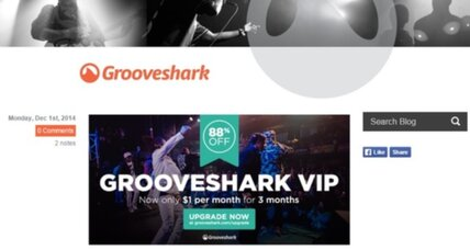 Streaming music service Grooveshark goes dark