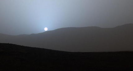 A blue sunset on the Red Planet (+animation)