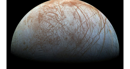 Is this moon of Jupiter covered in sea salt?