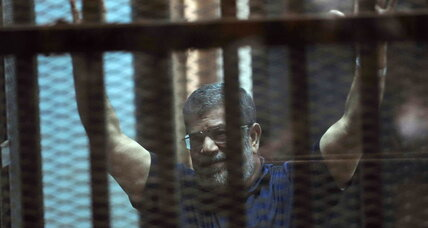 Ousted Egyptian President Mohammed Morsi sentenced to death
