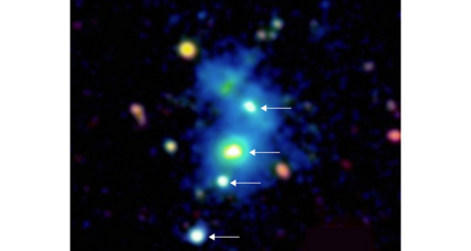 In a first, astronomers spot a quartet of quasars