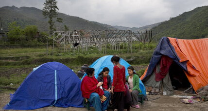 Earthquakes turn trekking paradise Nepal into a nation of campers