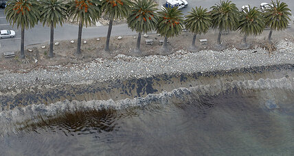 Efforts underway to cleanup oil spill along Santa Barbara's coastline