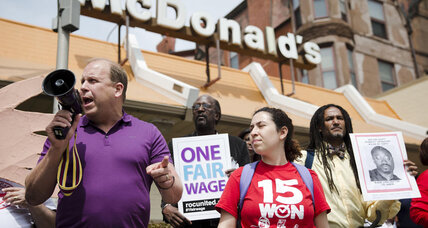 McDonald's workers continue 'Fight for 15' protests at shareholder's meeting