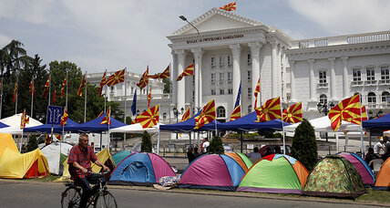 'Bombs,' protests, terrorist threats: What's going on in Macedonia?