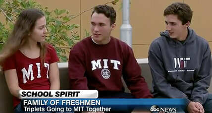 Triplets to attend MIT. What are the odds?