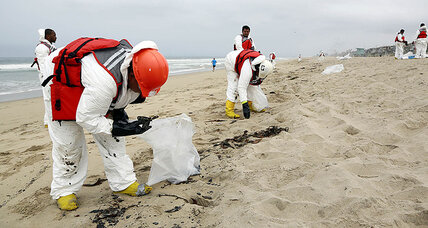 Mysterious oily goo on California beaches puzzles officials