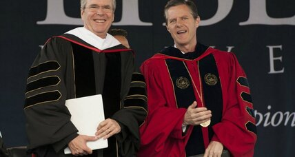 Jeb Bush at Liberty University: Why presidential hopefuls court Evangelicals (+video)