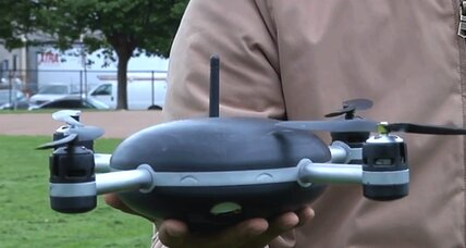 Self-piloting Lily drone follows people on command